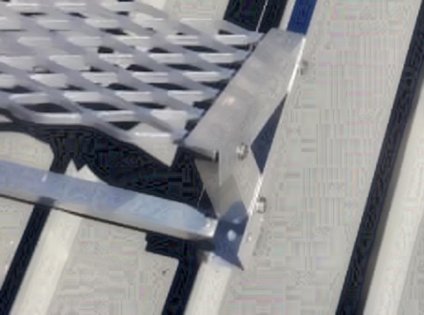 Roof step fixing detail