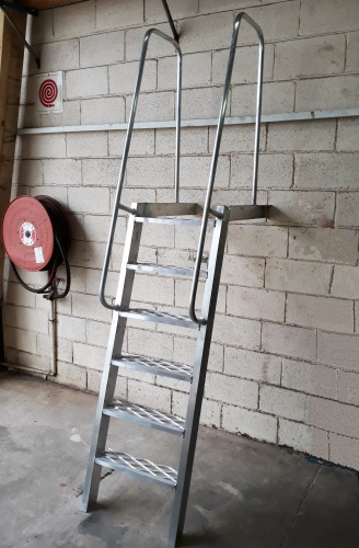 Roof ladder for parapet walls